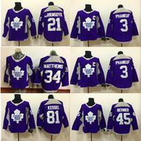 lupul hockey jersey джерси оптовых-Торонто Мейпл Лифс Фиолетовый тренировочный Джерси 16 Митчелл Марнер 34 Остон Мэтью 81 Кессель 3 Фанеуф 19 Хоккейные майки Люпул