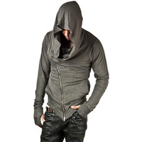 hoodie do credo do assassino venda por atacado-Brand Design Men Hoodies Hop Padrão Streetwear Zipper camisola Men Moda 'S Treino Homens Assassins Creed Hoodies M-2XL