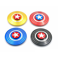 Wholesale alloy hand for sale - Group buy Fidget Spinner American Captain Fast Bearing Spider Finger Hand Spinner gyro EDC ADHD Rotation Anti Stress Aluminum alloy Man