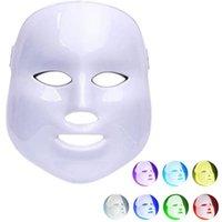 liderliğindeki güzellik ev makineleri toptan satış-7 Işık LED Yüz Maskesi PDT Işık Cilt Terapi Güzellik makinesi Için Yüz Cilt Gençleştirme Ev Güzellik Ekipmanları Için