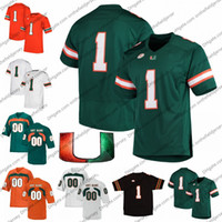 Wholesale blade s resale online - Custom Miami Hurricanes Football Jersey Any Name Number Shaquille Quarterman Tate Martell Jarren Williams Brevin Al Blades Jr
