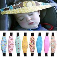 cinturones de seguridad ajustables para niños al por mayor-Cabeza infantil del cinturón de seguridad de los niños siesta ajustable Sleep Holder Cinturón del asiento del coche Correa de la correa de la correa del carro de bebé de la correa protectora C898