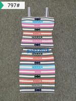 проверка одежды оптовых-Высококачественный женский верх платья с полосками сексуальный трикотажный многоцветный ткани рубашка скольжения рубашка бюстгальтер и тонкое короткое длинное платье в клетку