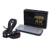 Wholesale hdmi splitter resale online - 4K K p Full HD Port IN OUT HDMI Switch Switcher Hub with Remote Control Splitter Box for Apple