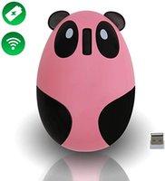 mini laptop laptop rosa venda por atacado-Rosa Pc New Wireless Mouse recarregável Gaming Mouse Mini desenhos animados Panda computador portátil silencioso Laptop