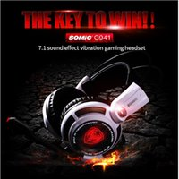 Wholesale headset microphone for pc usb resale online - Somic G941 USB Gaming Headset Headphones with Microphone Noise Cancelling Stereo Bass Vibration LED Light for PC PS4 Gamer