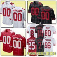 Wholesale football jerseys 99 resale online - Men s San Francisco ers Custom Any name number jersey Ronnie Lott Tom Rathman Hyde Buckner Celek Thomas jerseys