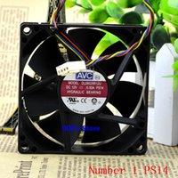 подвеска с вентилятором 12v оптовых-Новый CPU кулер вентилятор для 80 мм 80 * 80 мм * 25 мм DL08025R12U PS14 PS27 PS47 Гидравлический подшипниковый PWM охлаждения 12V 0.50A 4 Pins 3600rpm