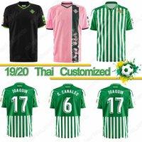 camisa de futebol quente venda por atacado-Thai 19 20 Real Betis camisa de futebol Juanmi MANDI maillot de pé FEKIR JOAQUIN camisa de futebol Real Betis Kits 19-20 camiseta de futbol HOT