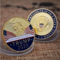 Wholesale president box for sale - Group buy Trump Speech Commemorative Coin America President Trump Collection Coins Crafts Trump Avatar Keep America Great Coins BH2309 TQQ