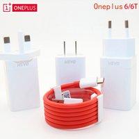 carregador iphone uk usb cabo venda por atacado-UK OnePlus 7 traço carregador Um mais 6T Smartphone 5V / 4A carga rápida adaptador de parede USB Original US UE, 2M traço Charger Cable