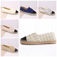 Wholesale women close toe sandals for sale - Group buy Espadrilles Women Designer Casual Shoes Luxury Leather Slip On Platform Shoes Men Espadrilles Sandals With Box Size