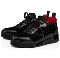zapatillas directas de fábrica al por mayor-Fábrica directa de zapatos casuales calientes Aurelien Sneakers Flat Women, Men Red Bottom Shoes Perfect Quality Casual Trainer al aire libre regalo perfecto 17