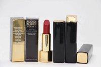 lápiz labial color de labios al por mayor-12 unids / lote Nueva marca de maquillaje Lipstick Rouge atractivo terciopelo luminoso mate lápiz labial CREMA LIP 24 Diff Color 3.5G Envío Gratis