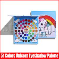 Wholesale unicorn palette resale online - Kevin Coco Cosmetics Eye Makeup Palette Colors Pigment Matte Shimmer Unicorn Eye Shadow Teay Eyeshadow Palettes