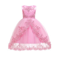 Wholesale western summer clothing for sale - Children s Dress Trailing Red Princess Dress Explosion Children s Wear Stage Performance Clothing The New Western Style