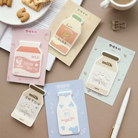 Wholesale memo notepad resale online - Milk bottle sticky notes memo pad paper Post notes sticky notepad adhesive sticker kawaii stationery papeleria school supplies