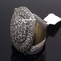 presentes nupciais para homens venda por atacado-Rodada Cut Diamante Pinky Banda Homens Anel de Noivado Presente de Noivado Anéis De Casamento Jóias Tamanho 5-11