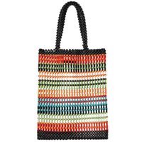 женские сумки ручной работы оптовых-NEW-Luxury Women Bag Acrylic Pearl Tote Top-Handle Bucket Bag  Handmade Beaded Designer Handbags Ladies Party Evening