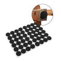 boden stuhl pads großhandel-Zerodis 48Pcs Black Mats Rutschfeste selbstklebende Bodenschoner Sofa Tisch Stuhl Gummifüße Pads Gummischutzpolster