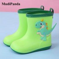Wholesale boys rain boots resale online - MudiPanda Kids Baby Boys Girls Rain Shoes Winter Children s Cartoon Boots PVC Cute Waterproof Non Slip Buckle Ankle