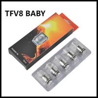 bobinas de besta de bebê q2 venda por atacado-Autêntico TFV8 BABY Beast Tank Bobinas Cabeça AB QR Códigos V8 Baby-T8 T6 X4 M2 Q2 0.4 / 0.6ohm Bobina Núcleos 100% Original