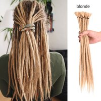 Wholesale 1b 27 braiding hair resale online - Hot Selling Stands quot Dreadlocks Hair Extension For Fashion Women Handmade Dreads Kanekalon Braiding Hair Extensions