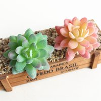 Wholesale mini white flower pots for sale - Group buy Mini DIY Artificial Succulents Bonsai Plant Fake Flower Garden Ornaments Potted Home Balcony Decoration Succulent Plants