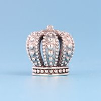Wholesale 925 sterling silver crown charms for sale - Group buy Charm Crown beads sterling silver for Pandora personality creative DIY bracelet beaded ladies fashion jewelry with original box
