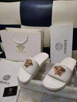 melhores chinelos de couro para homens venda por atacado-Moda sandálias de slides de couro chinelos homens mulheres 2017 Hot tiger Designer flor impresso unisex praia chinelos chinelo MELHOR QUALIDADE