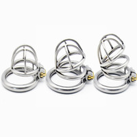 Wholesale metal restraint bdsm for sale - Group buy Hollow Male Stainless Steel Size Cage Choose Bird Chastity Device Metal Cock Penis Ring Lock Bdsm Restraint Sex Toy For Man Y19070602