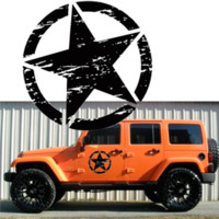 Wholesale black white stickers for cars for sale - Group buy Army Star Vinyl Car Decal Bumper Sticker Fit for Jeep Special Stars Car Sticker Wall Wrangler Car Styling Auto Accessories