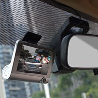 Wholesale camera install resale online - 4inch Dash Cam Three Lens Easy Install Digital Wide Angle HD P Car DVR Rear View Camera Night Vision LCD Parking Monitor