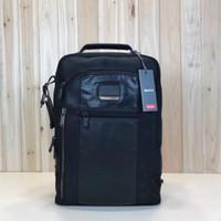 mochila de cuero al por mayor-Nueva mochila de ordenador de viaje de negocios informal de nylon antibalas tumi-232682 de cuero casual