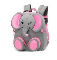 rosa elefanten geschenke großhandel-Niedlichen Elefanten Baby Rucksäcke Kindertagesstätte Vorschule Picknick Reise Reißverschluss Schulter Rucksack Tasche Kinder Geschenk pinkgray neue Mode SBR
