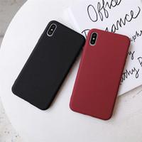 милые чемоданчики для iphone оптовых-TOP LACK Сплошной цвет Силиконовые пары Чехлы для iPhone XR X XS Max 6 6S 7 8 Plus Симпатичные конфеты Цвет Мягкий Простой Мода Телефон Чехол NEW
