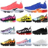 free run rose al por mayor-2019 Nike Air Vapormax Plus Tn shoes VM Run hombres zapatillas tns Xmaorvap Plus fucsia negro olympic pink rise voltios atardecer juego royal tn marca de moda corredores zapatillas