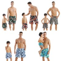 Wholesale dad son clothes resale online - Dad Son Swimwear Summer Family Swimsuit Father Son Mother and Daughter Beach Matching Clothes Daddy Boys Beach Shorts