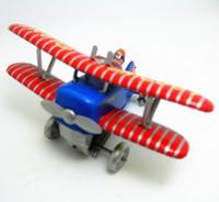 brinquedos de vento velhos venda por atacado-Coleção clássica Retro Clockwork Wind up Metal Andando Tin Toy Looping avião Antigo avião Mecânica crianças presente de aniversário de natal