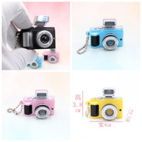 Wholesale camera toy gifts for sale - Imitation Camera Keychain Led Illuminate Pendant Lovers Couple Creative Gift Colors Mix Bag Decoration bl F1