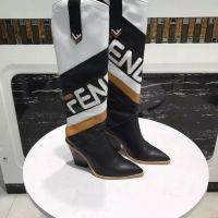 estilo de moda botas longas venda por atacado-NOVA Mulheres Designer de Couro Andando Mostrar 12 Polegada Botas de Moda Senhoras Estilos Longos Botas 35-41
