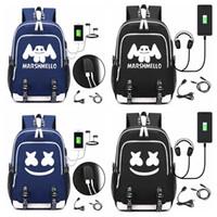 Wholesale kid laptops for sale - Group buy DJ marshmello school bag usb laptop backpack for girls boys teenagers children s cool bookbag kids handbag CY F1708