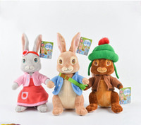 Wholesale toys 21cm resale online - New arrival Cotton Soft and Lovely CM Style Peter Rabbit Plush Doll Stuffed Animals Toy For Gifts X30