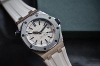 reloj deportivo de buzo al por mayor-Calidad Relojes deportivos de lujo Relojes mecánicos automáticos Relojes Diver 15710ST Reloj de pulsera con zafiro impermeable 60M