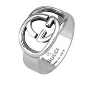 ingrosso mani antiche-Brand designer new 925 sterling silver fine jewelry vintage argento antico fatto a mano hip hop uomo e donna gg anelli regalo