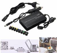 wechselstromversorgung für laptops großhandel-Universal Laptop Im Auto DC Ladegerät Notebook AC Adapter Netzteil 120 Watt EU US Stecker Ladegerät Für Lenovo Für Sony