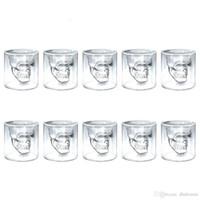 бутылки для водки оптовых-4 вещи 8 шт. 12 шт. череп голова Рюмка пивная кружка бокал для вина кружка виски Кристалл водка чашка кофе 25 мл ~ 150 мл подарочная бутылка