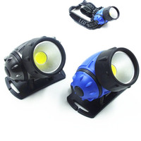 Wholesale led long range lamps resale online - New Portable Headlamps Two Stalls Headlight Plastic Miners Lamp Outdoors Long Range Shootingfishing Camping Glowing In The Dark jrG1