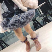 ingrosso pannello esterno di soffio della principessa-Princess Dress TUTU Gonna Papillon Regolabile Stella Super Soft Filato Tinta unita Pieghevole in Nylon Puff 24