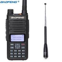 dijital radyo anteni toptan satış-BAOFENG DM-860 Dijital Walkie Talkie yuvası Tier I II tier2 Dual Band DM-1801DM5R Radyo + Anten için Uyumlu